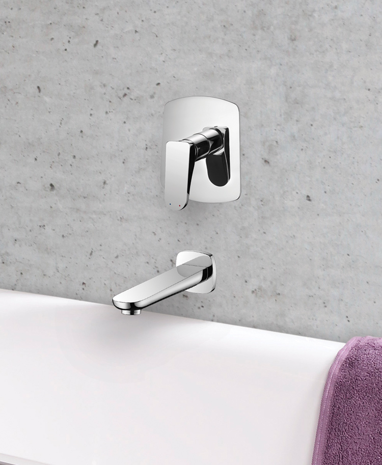 Drift Wall Mounted Bath Filler (Manual Valve And Spout)   Aqualla Brassware