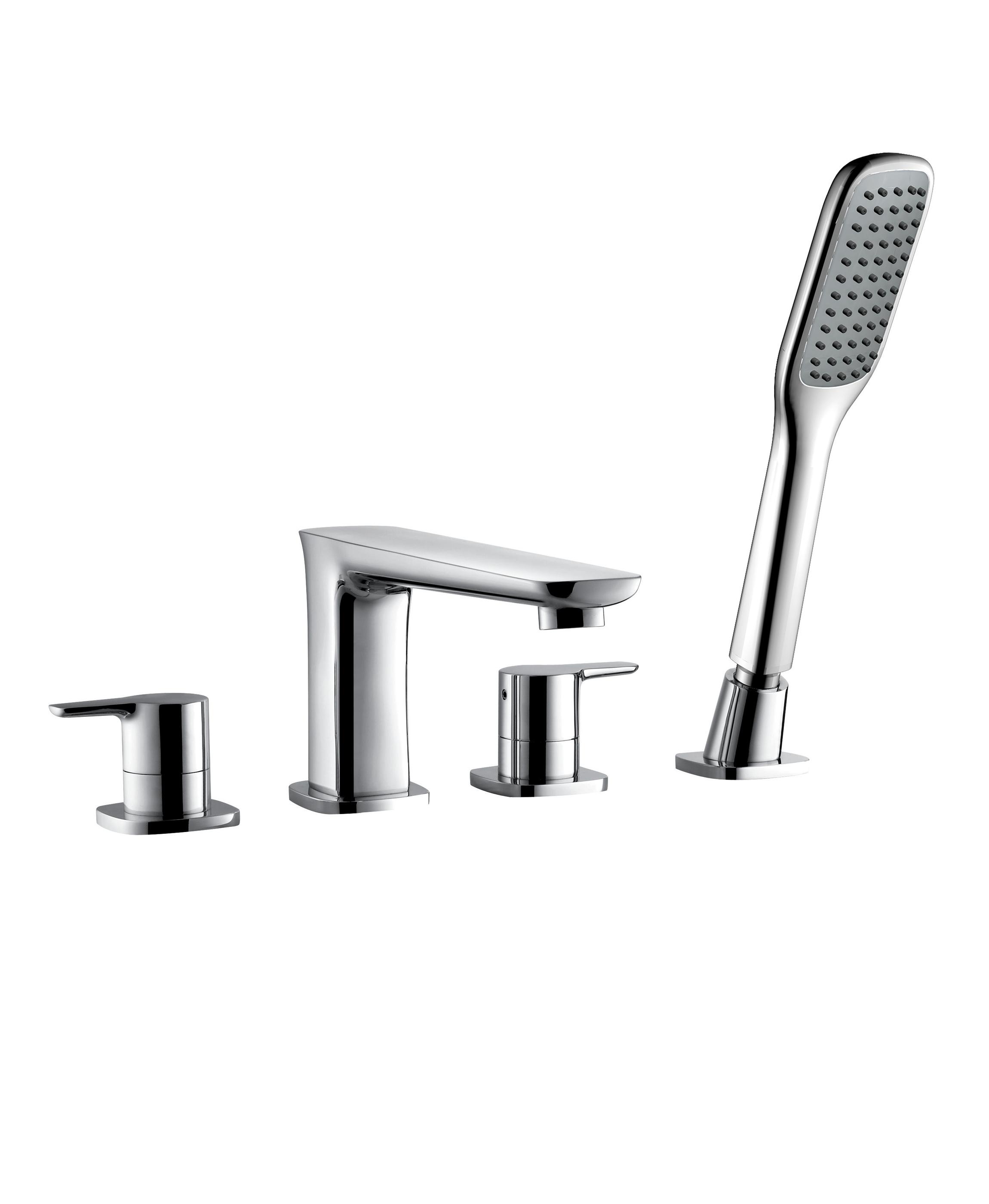 Rain 4 Hole Bath Shower Mixer Aqualla Brassware